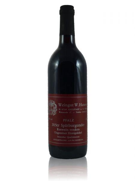 2015er Ungsteiner Honigsäckel Spätburgunder Rotwein Qualitätswein trocken 0,75l
