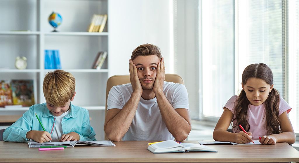 Eltern sind oft überfordert beim Homeschooling